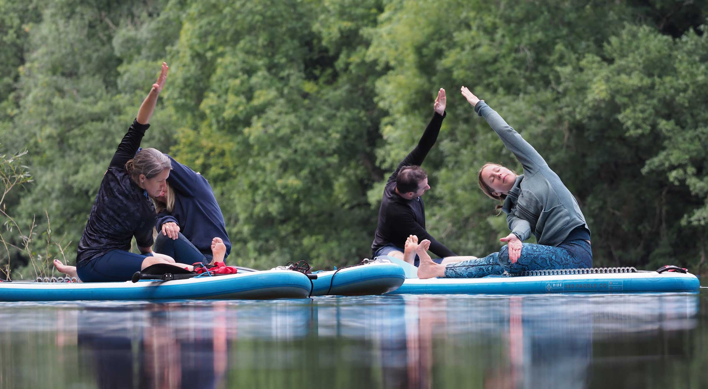 Paddleboarding Yoga Sessions on the River Wye